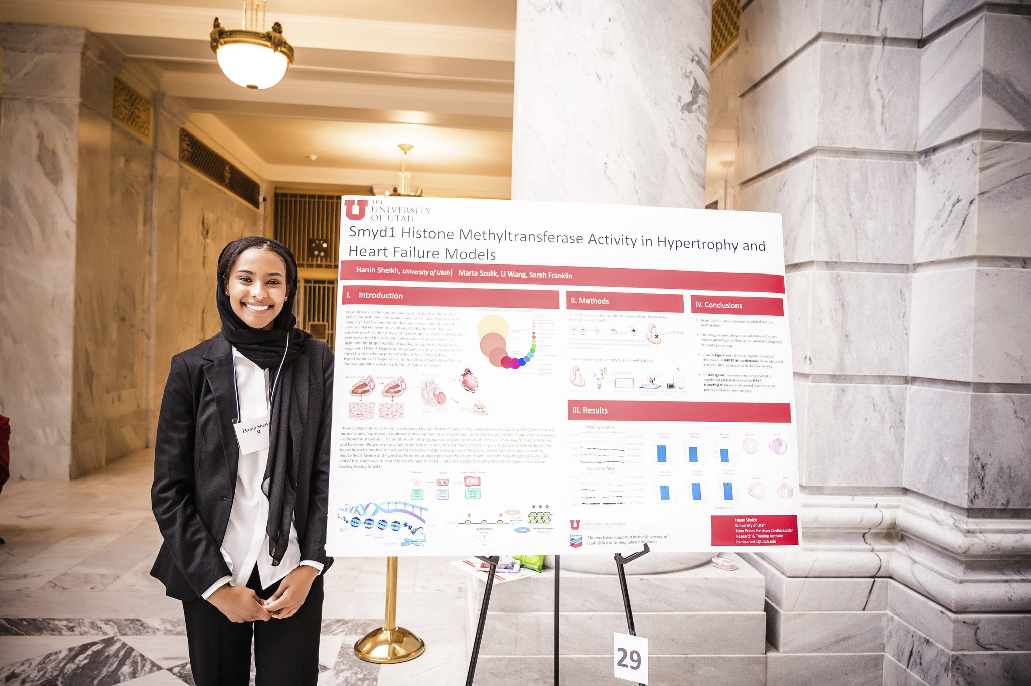 Hanin Sheikh was chosen to represent the University of Utah and CVRTI and showcase her research for Utah lawmakers and the general public
