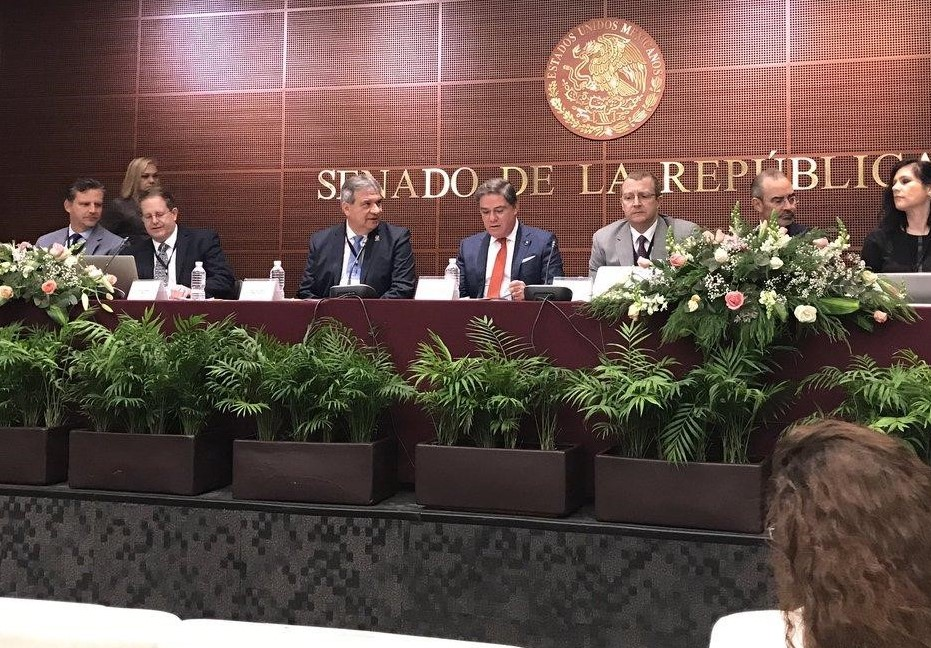 Dr. Ray Price addresses the Mexican Senate