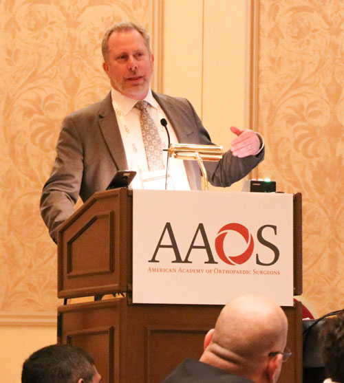 Darrel Brodke, MD, presenting to the American Academy of Orthopaedic Surgeons
